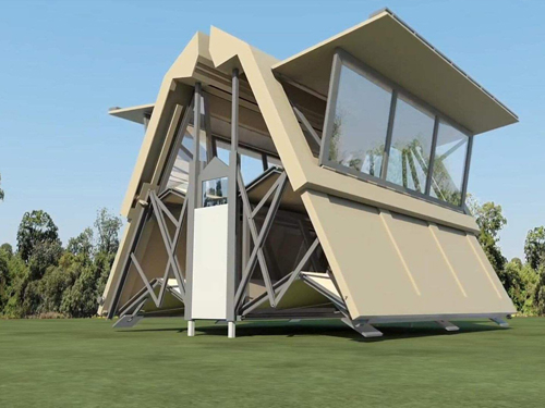 可折叠的房子,一天就能盖好!